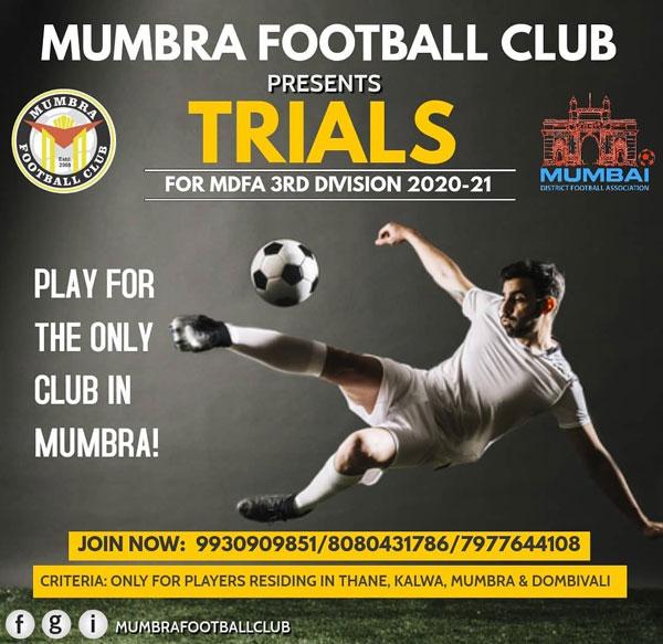 Mumbra FC Trials 3rd Div MDFA, Mumbai