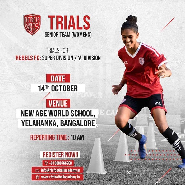 RFC Girls Academy Trials, Bengaluru