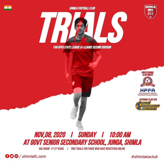 Shimla FC Trials for HPFA football league
