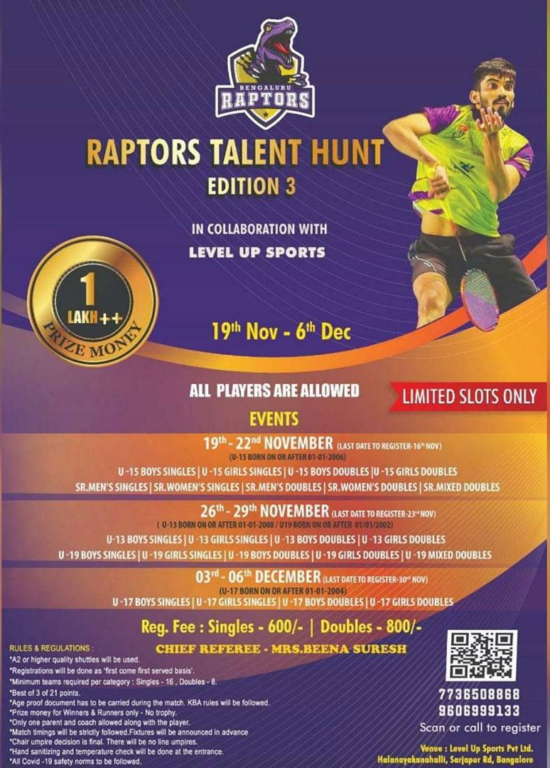 Bengaluru Raptors Talent Hunt