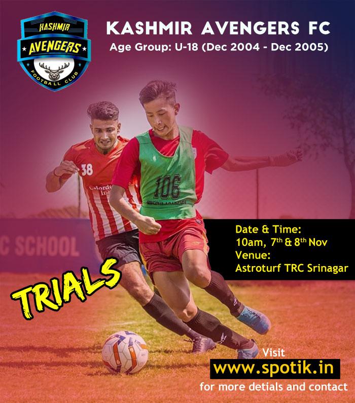 Kashmir Avengers FC U-18 Trials, Srinagar