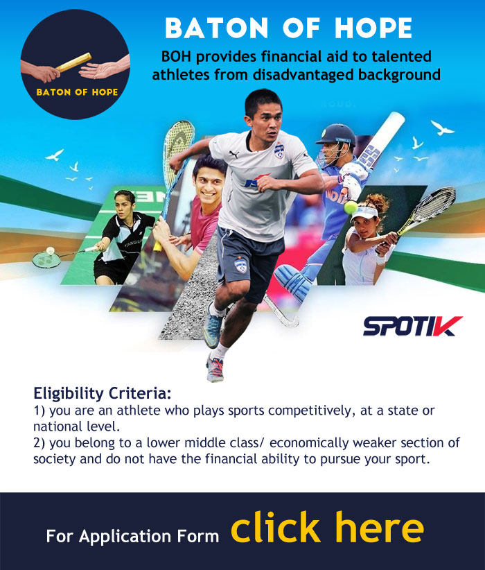 Baton of Hope Financial Aid to Talented Athletes.