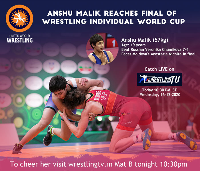 Anshu Malik reaches final of wrestling Individual World Cup