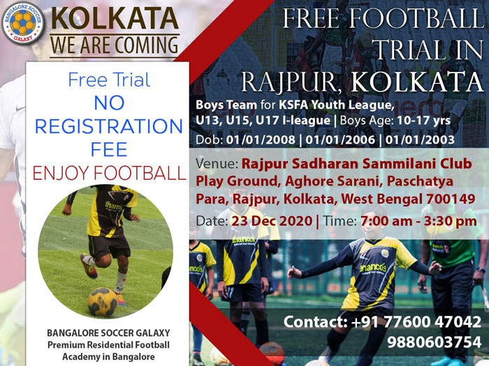 Bangalore Soccer Galaxy, Kolkata Trials