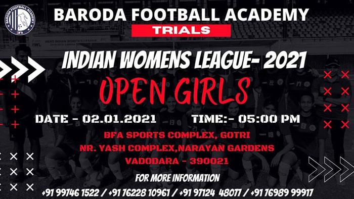 Baroda Football Academy trials for Indian Women's League - 2021