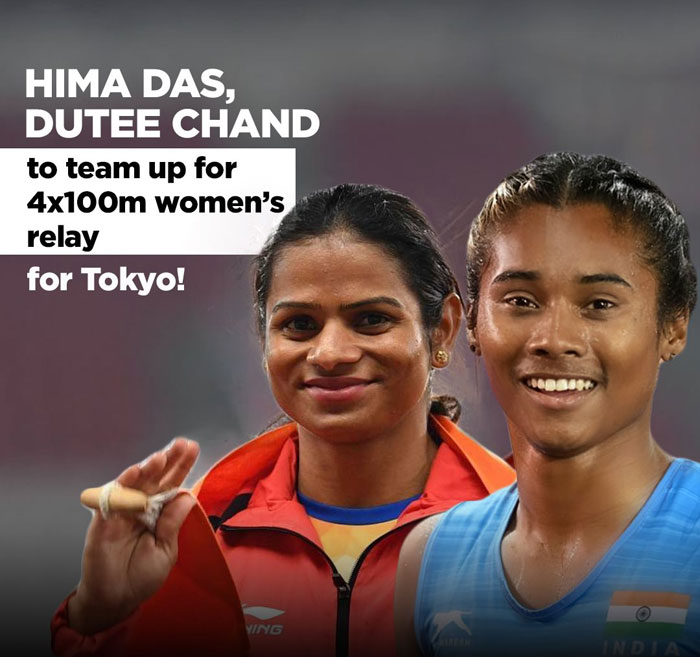 ima Das, Dutee Chand to run relay together ahead of Tokyo