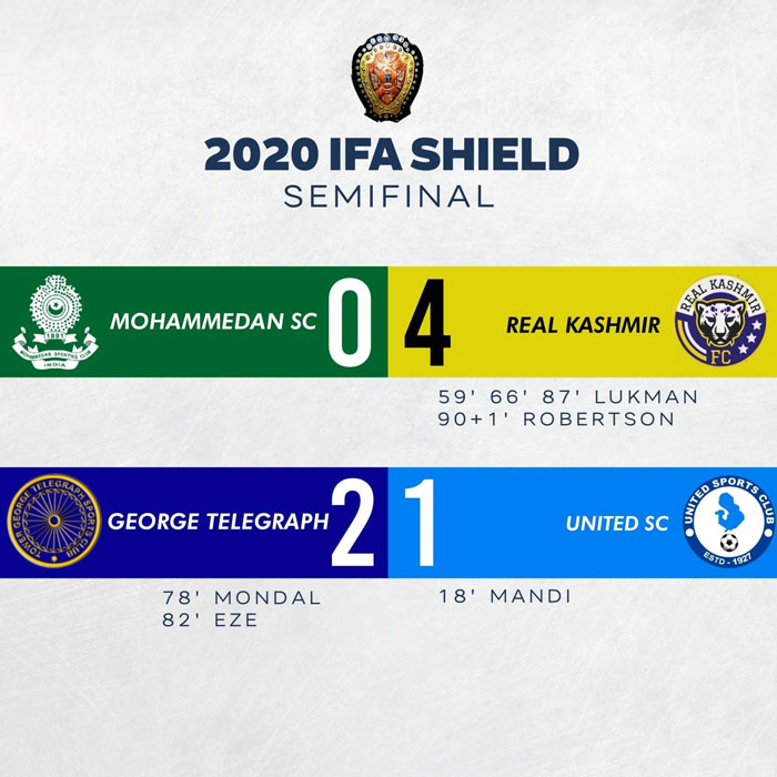 IFA Shield Semi Final Result