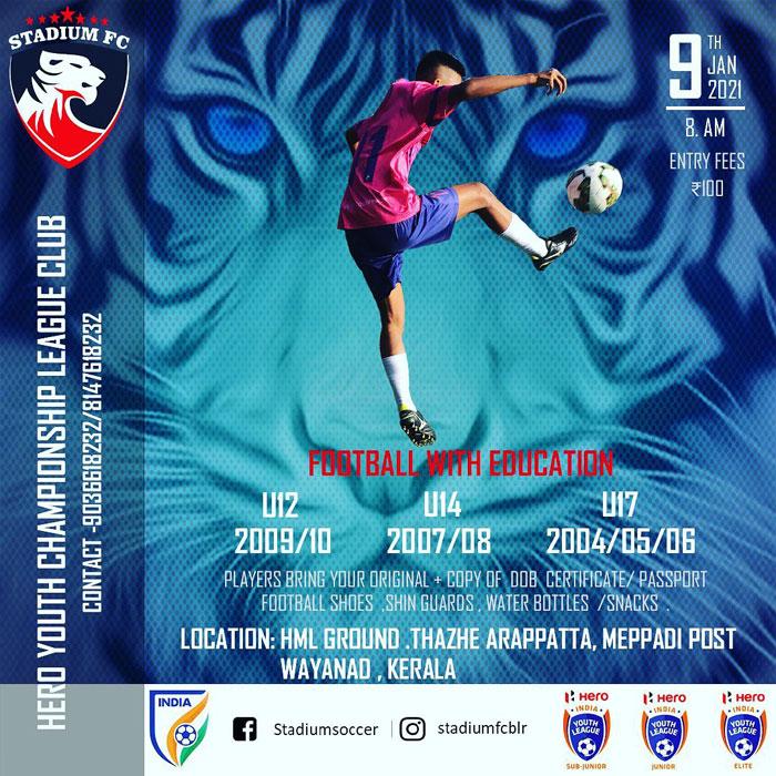 Stadium Soccer School Kerala Trials