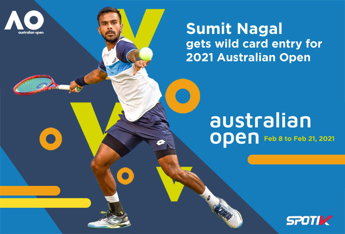 Sumit Nagal gets wild card entry for 2021 Australian Open