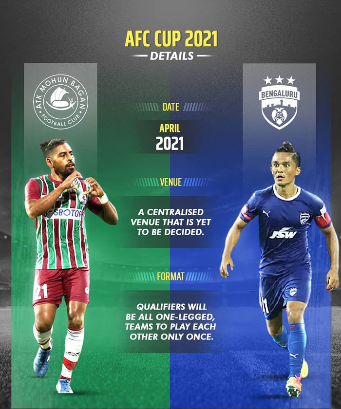 ATK Mohun Bagan and Bengaluru FC to play AFC Cup in April 2021