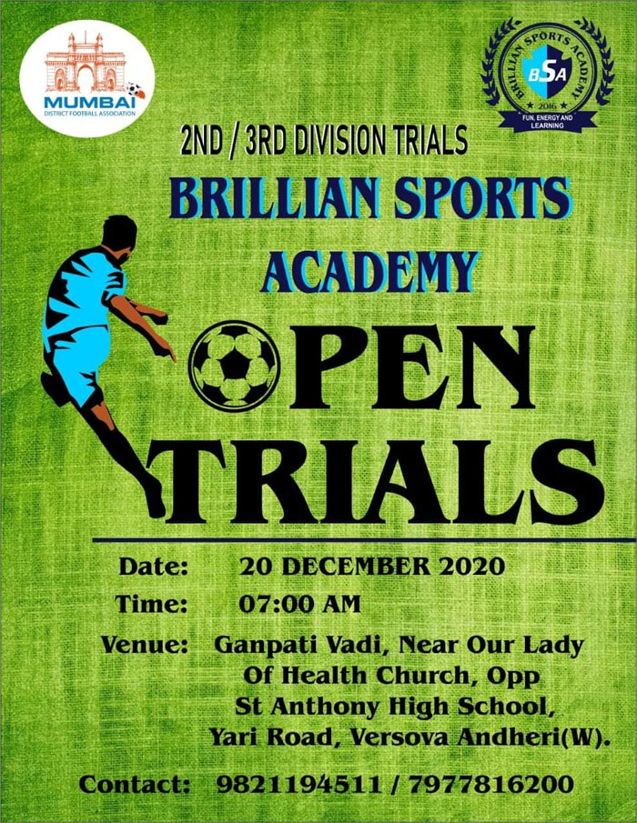 Brillan Sports Academy - Football Trials Mumbai