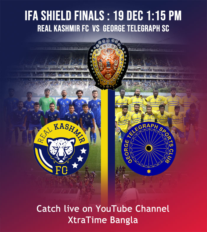 Real Kashmir FC to lock horns with George Telegraph in IFA Shield Final at Kolkata.