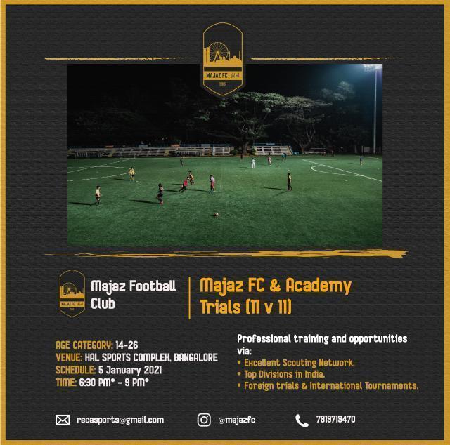 Majaz Football Club Trials, Bengaluru