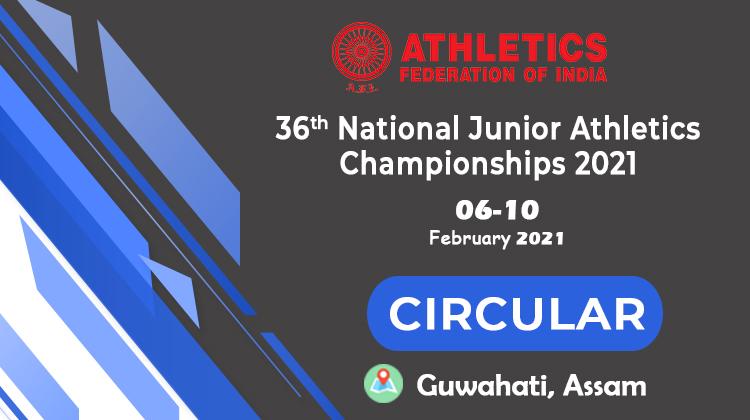 36th National Junior Athletics Championships, 2021