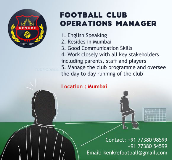 Job: Football Club Operations Manager, Kenkre FC, Mumbai