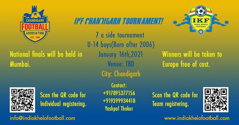 India Khelo Football Tournament - Chandigarh