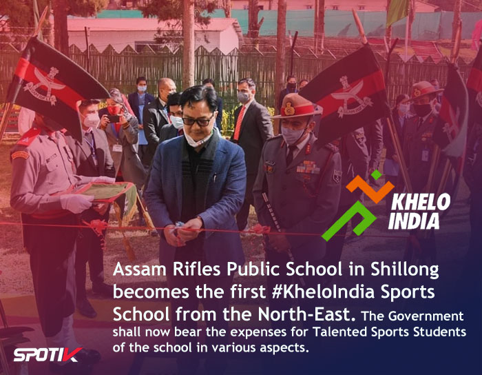 ARPS in Shillong becomes the first KheloIndia Sports School from the North-East.
