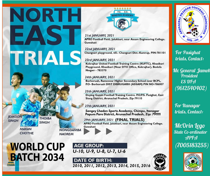 Minerva FC Academy Trials at Arunachal Pradesh