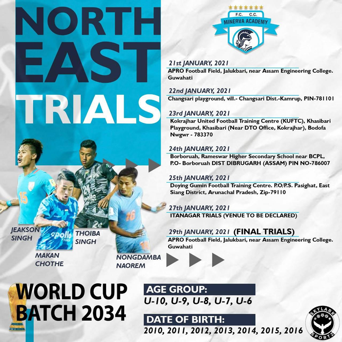Minerva Football Academy North-East Trials