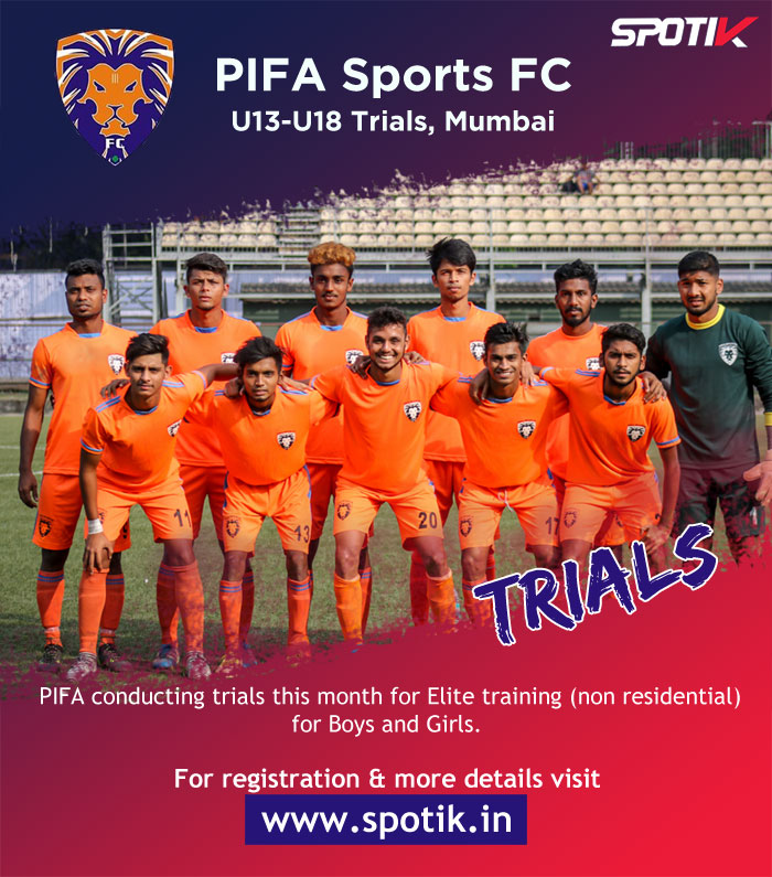 PIFA Sports FC U18 Girls/Boys Trials, Mumbai.