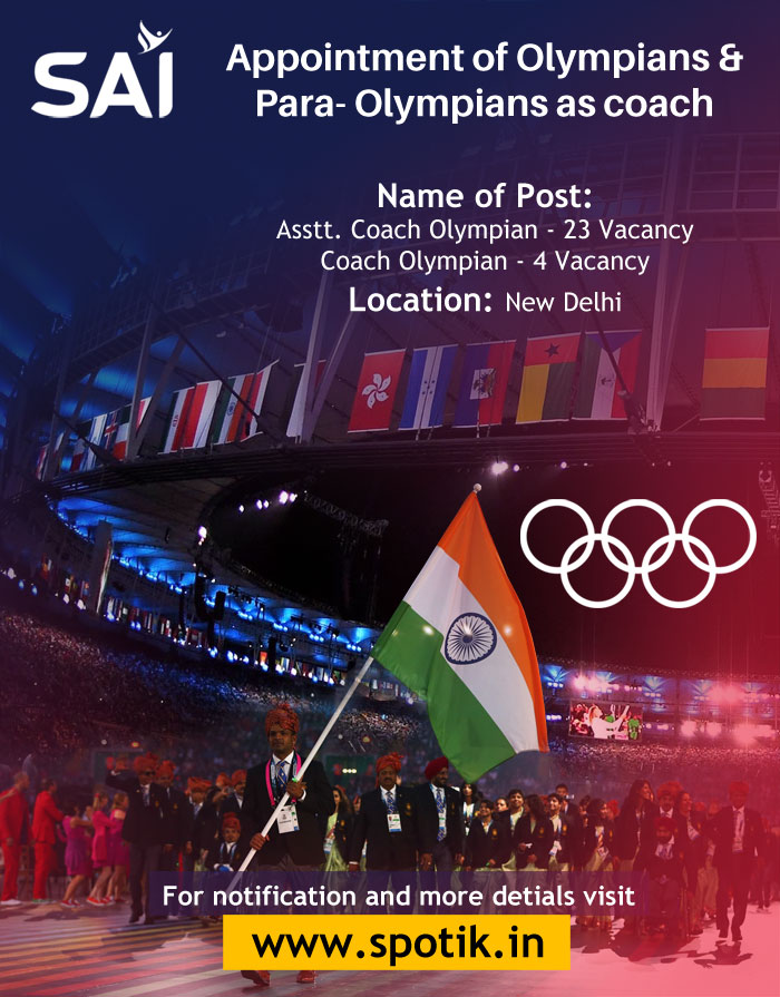 Appointment of Olympians & Para-Olympians as coach in Sports Authority of India