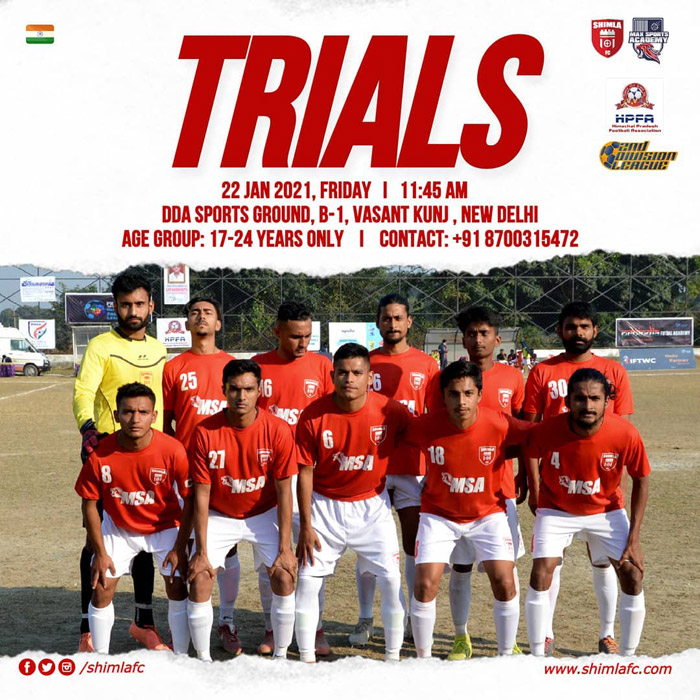 Shimla FC Trials for 2021 Season