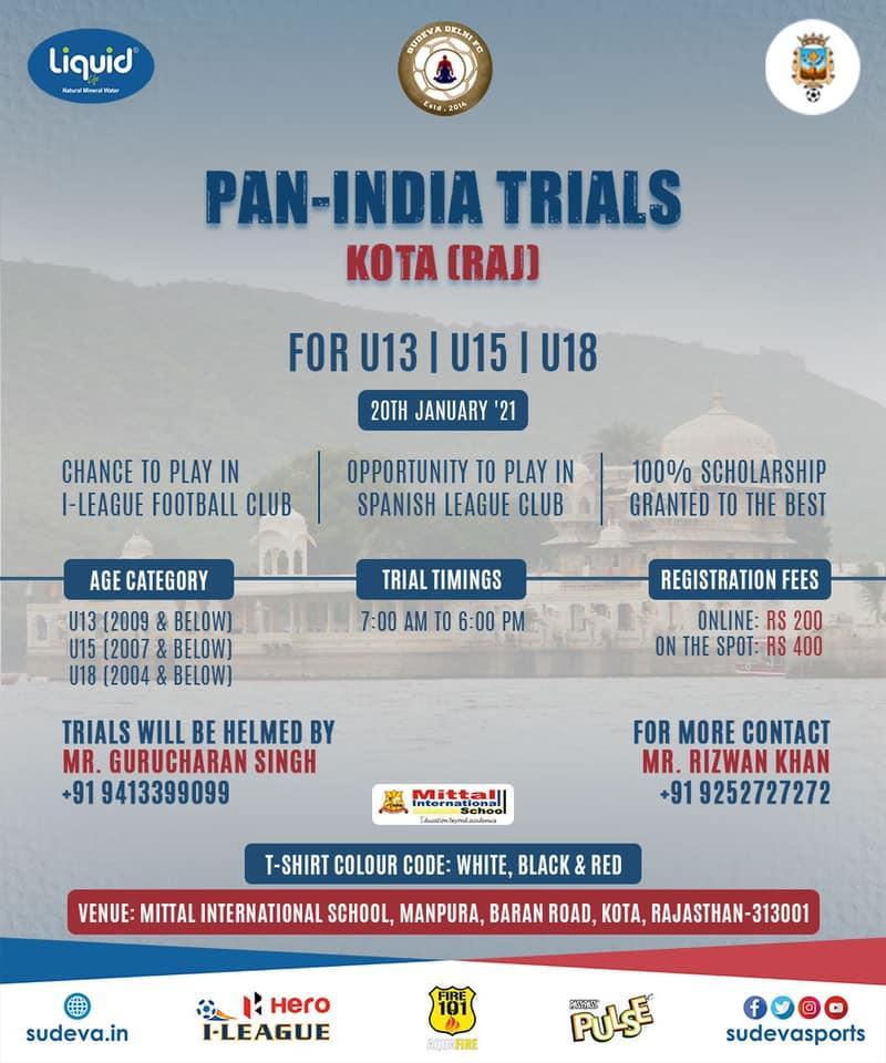 Sudeva FC Kota Trials