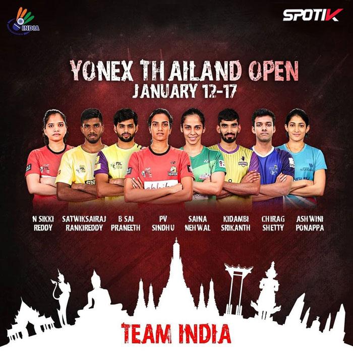 Yonex Thailand Open 2021 Team India