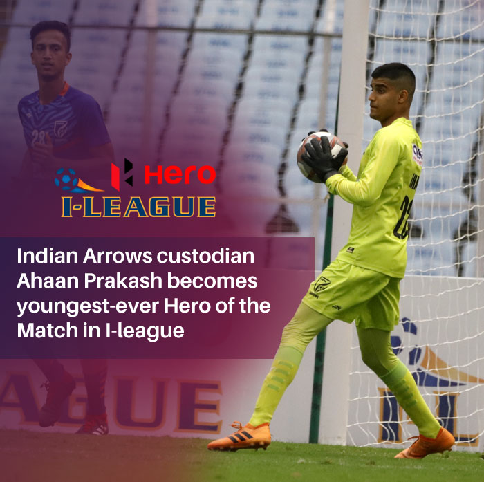 Indian Arrows Goalkeeper Ahaan Prakash