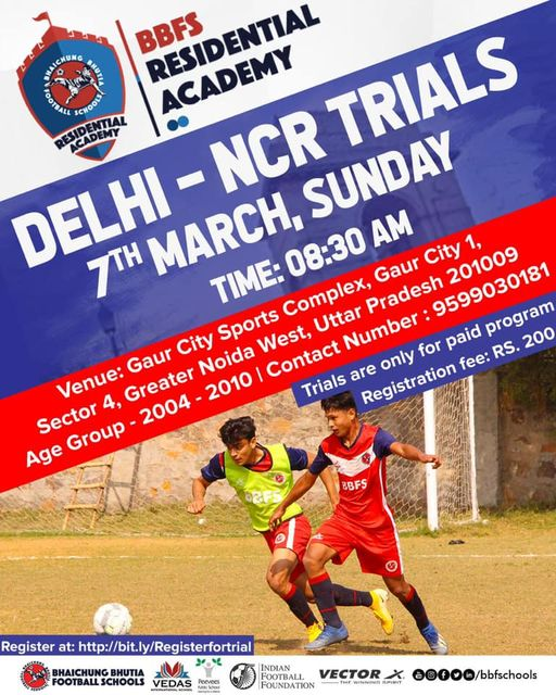 BBFS Football Academy, Delhi-NCR Trials