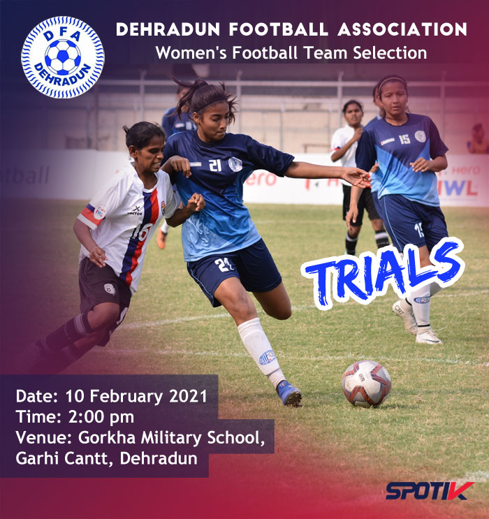 Women's Football Team Selection, Dehradun