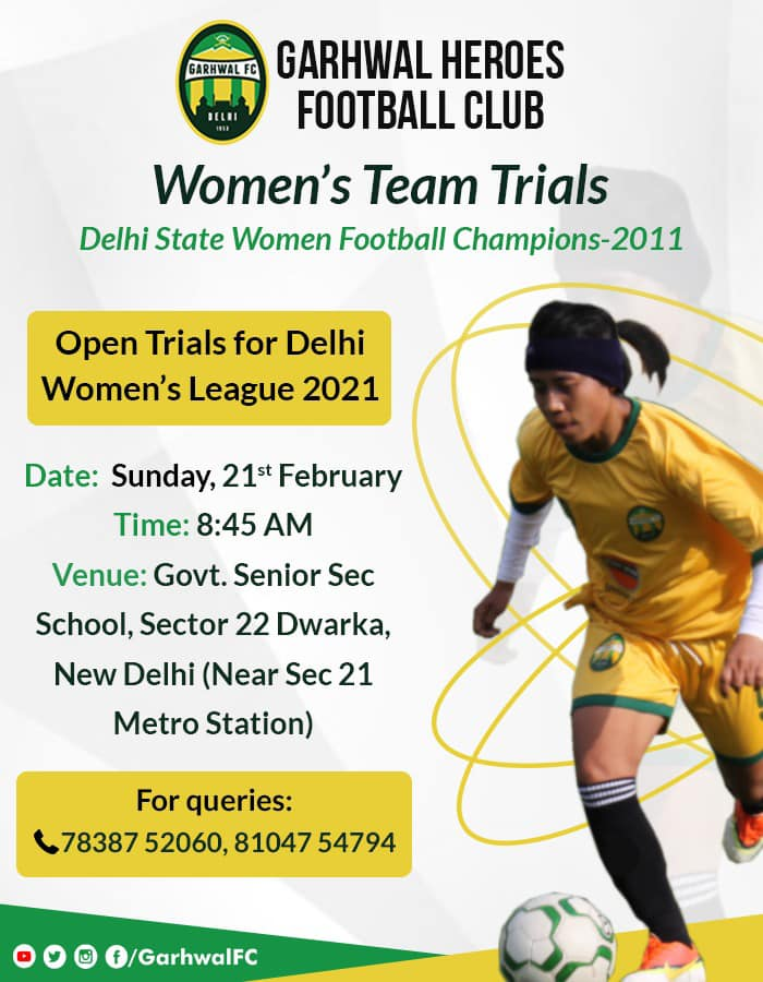 Garhwal Heroes FC women's team Trials - New Delhi
