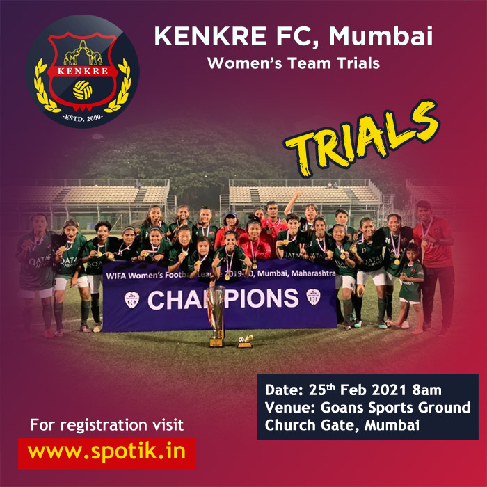 Kenkre FC Women's Team Trials, Mumbai