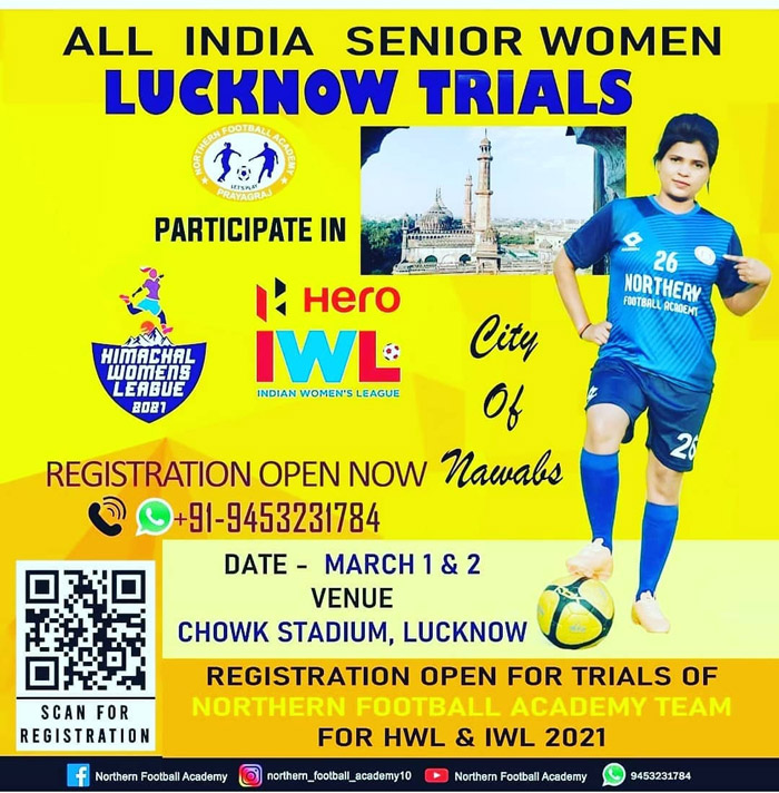 Northern FA Women's Team Trials, Lucknow