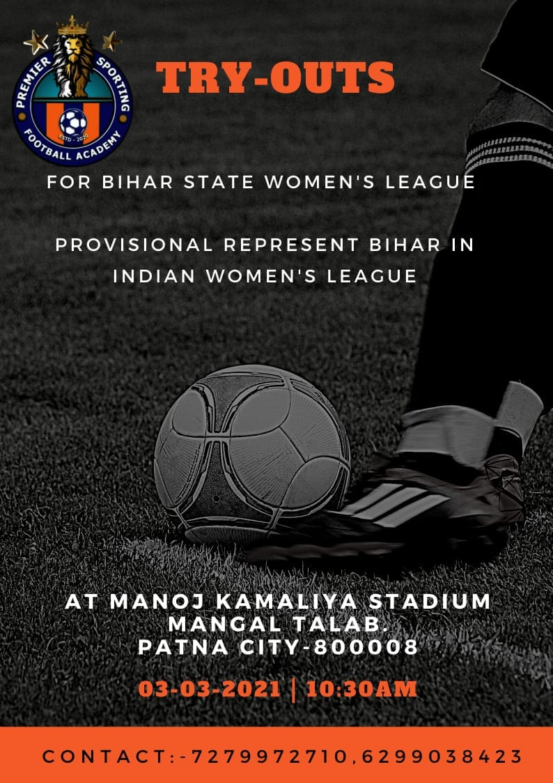 Premier Sporting FA Women's Trials, Patna