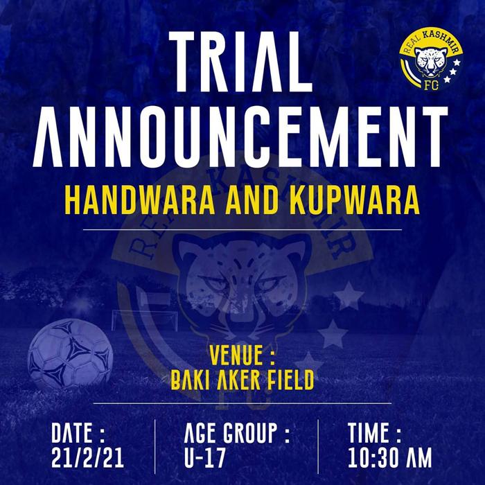 Real Kashmir FC Trials