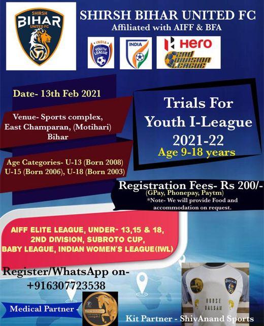 Shirsh Bihar United FC Trials