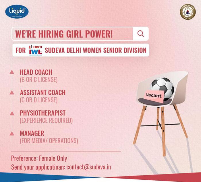 Sudeva Delhi FC Hiring Coach