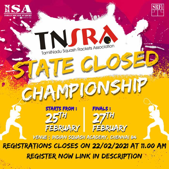 TamilNadu State Closed Championship, Chennai