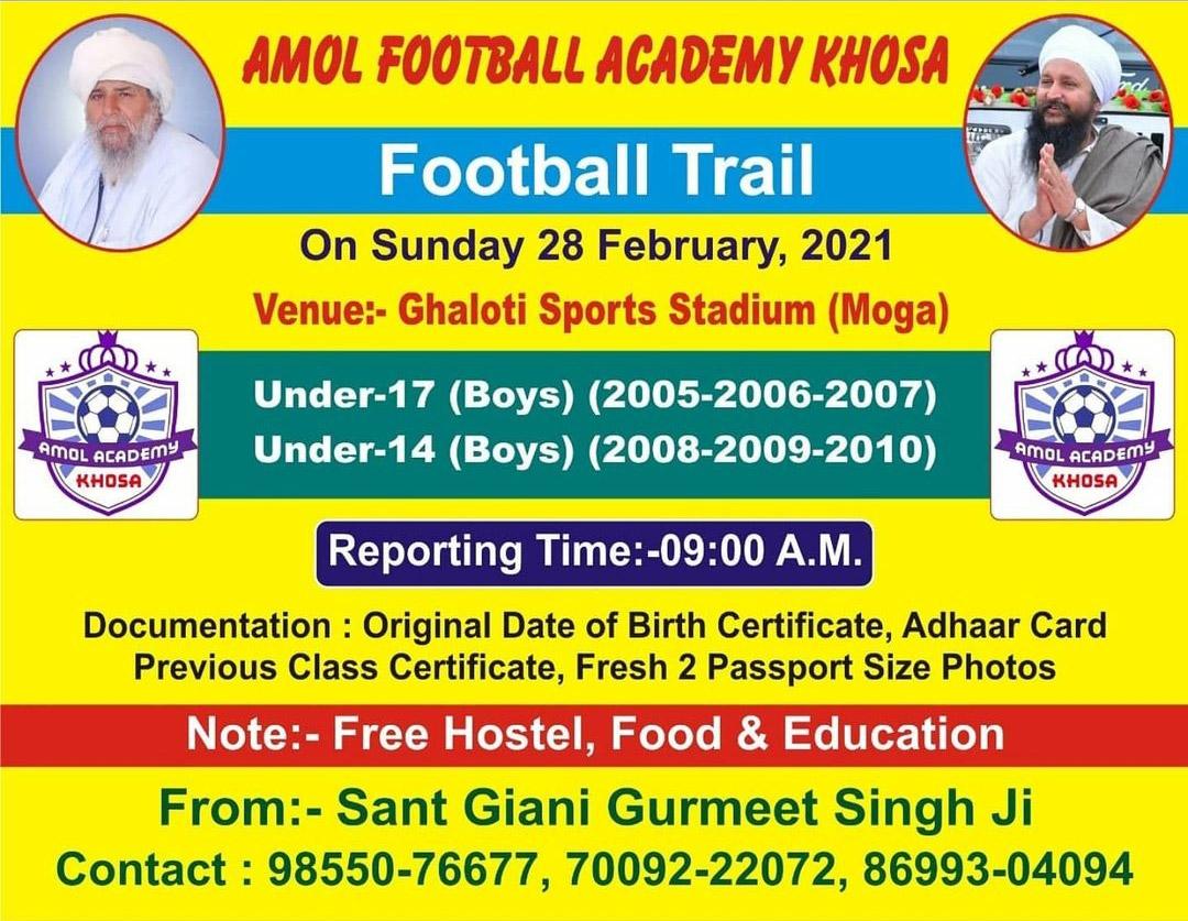 Amol Football Academy Khosa, Moga, Punjab
