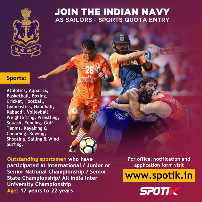 The Indian Navy - Sports Quota