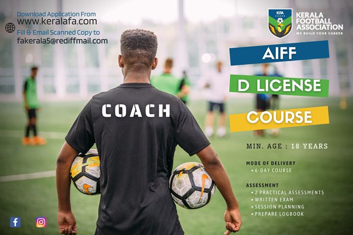 AIFF D license course - Kerala football association