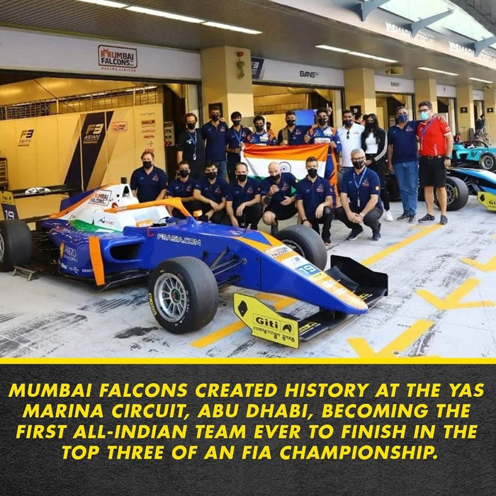 Mumbai Falcons create history, clinch 3rd place in Formula 3 Asian Championship
