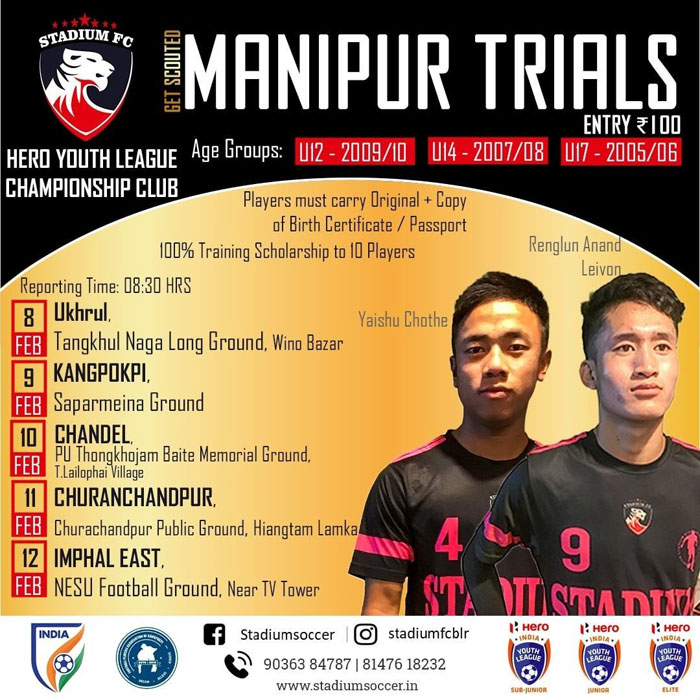Stadium FC Selection Trials, Manipur