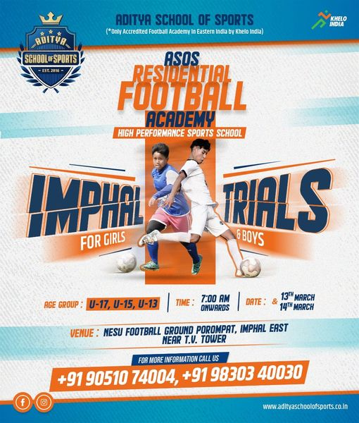 Aditya School Of Sports, Imphal Trials