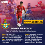 Indian Air Force Sports Quota 2021
