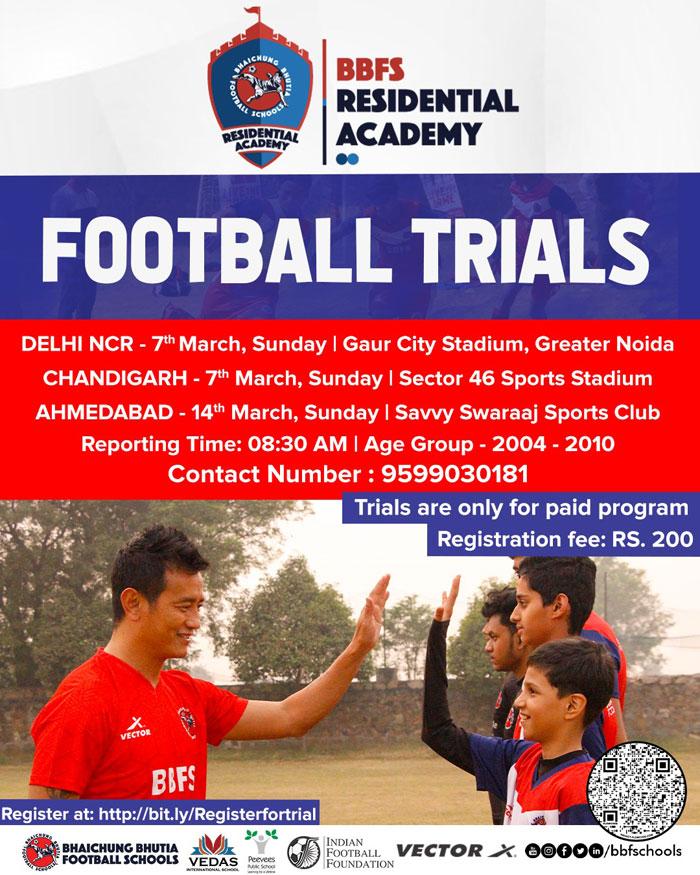 BBFS Football Academy Trials