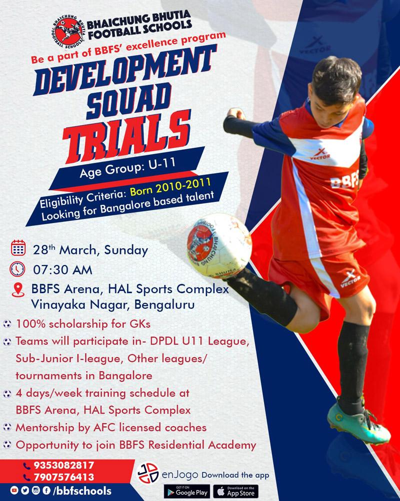Bhaichung Bhutia Football Schools Trials, Bengaluru