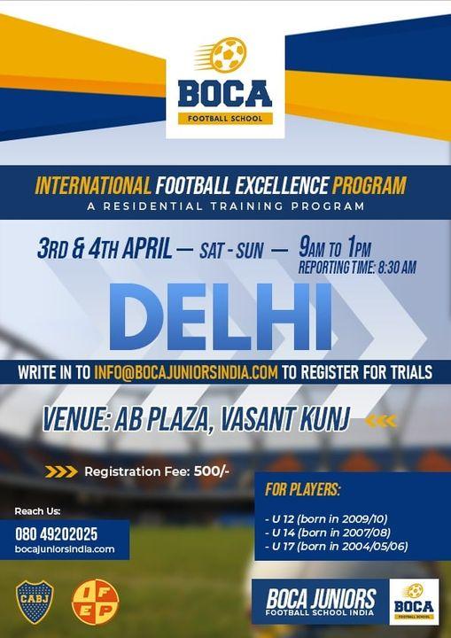 Boca Juniors Football School, Delhi Trials