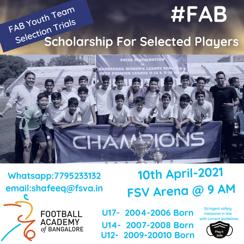 Football Academy of Bangalore Trials